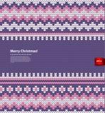 Il Natale di vettore ha tricottato l'illustrazione Fotografie Stock Libere da Diritti