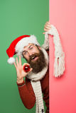 Il Natale equipaggia con la palla decorativa Fotografie Stock