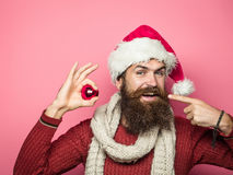 Il Natale equipaggia con la palla decorativa Fotografia Stock