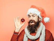 Il Natale equipaggia con la palla decorativa Fotografia Stock Libera da Diritti