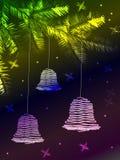 Il Natale ha colorato le campane Illustrazione di Stock