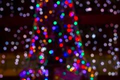 Il Natale ha colorato le lucciole Fotografia Stock Libera da Diritti