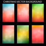 Il Natale ha messo con l'illustrazione leggera di vettore del fondo di vettore Fotografia Stock