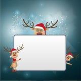 Il Natale incornicia con la renna Immagini Stock