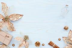 Il Natale incornicia con le decorazioni del nuovo anno Immagini Stock