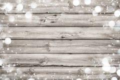 Il Natale incornicia su fondo di legno Immagine Stock Libera da Diritti