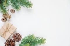 Il Natale incornicia su un fondo bianco Fotografia Stock Libera da Diritti