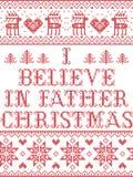 Il Natale mi modella crede nel modello senza cuciture del canto natalizio di Christmas del padre ispirato entro l'inverno festivo royalty illustrazione gratis