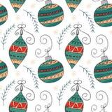 Il Natale modella a disposizione la progettazione disegnata illustrazione di stock