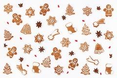 Il Natale modella fatto dei biscotti del pan di zenzero Immagini Stock Libere da Diritti