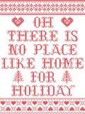 Il Natale modella là non è posto come la casa per il modello senza cuciture di festa ispirato entro l'inverno festivo della cultu royalty illustrazione gratis
