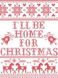 Il Natale modella il ll del ` di I è domestico per il modello senza cuciture di Natale ispirato entro l'inverno festivo della cul illustrazione di stock