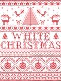 Il Natale modella il modello senza cuciture della canzone di Natale blu ispirato entro l'inverno festivo della cultura nordica ne illustrazione vettoriale