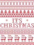 Il Natale modella il suo modello senza cuciture della canzone di Natale ispirato entro l'inverno festivo della cultura nordica in illustrazione di stock