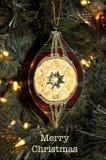 Il Natale orna con il Buon Natale immagine stock