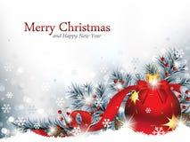 Il Natale orna nella neve Immagine Stock Libera da Diritti