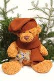 Il natale orsacchiotto-sopporta con un giocattolo Fotografia Stock Libera da Diritti