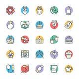 Il Natale raffredda le icone 2 di vettore royalty illustrazione gratis