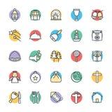 Il Natale raffredda le icone 3 di vettore illustrazione vettoriale