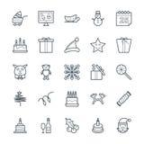 Il Natale raffredda le icone 4 di vettore illustrazione di stock