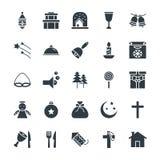 Il Natale raffredda le icone 3 di vettore royalty illustrazione gratis