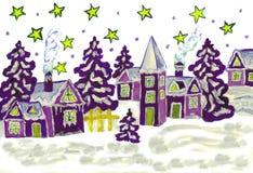 Il Natale rappresenta la porpora Fotografia Stock Libera da Diritti