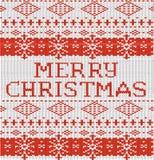 Il Natale riscalda l'illustrazione tricottata di vettore del modello del maglione Immagini Stock