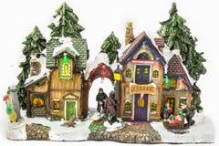 Il Natale schizza con le figure ceramiche Fotografia Stock Libera da Diritti