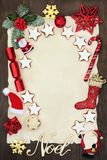 Il Natale segna a Santa o all'invito Fotografia Stock Libera da Diritti