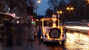 Il Natale si prepara a Vilnius, Lituania, 2018 immagini stock libere da diritti