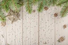 Il Natale soppressione per la vostra creatività Rami attillati naturali, Th fotografia stock libera da diritti
