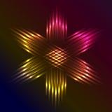 Il Natale star formato dei fasci di luce porpora Immagine Stock