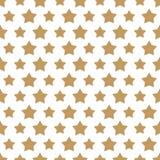 Il Natale star il modello senza cuciture di stile dell'oro su fondo bianco Fotografie Stock Libere da Diritti