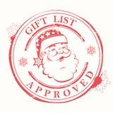 Il Natale timbra con le macchie, le macchie e una siluetta di Santa Claus illustrazione vettoriale