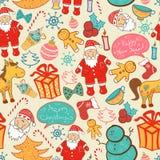 Il Natale vector il modello senza cuciture Fotografie Stock