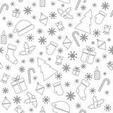 Il Natale vector il modello senza cuciture Immagine Stock Libera da Diritti