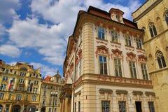 Il National Gallery, vecchie costruzioni, quadrato di Città Vecchia, Praga, repubblica Ceca Immagine Stock Libera da Diritti
