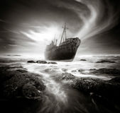 Il naufragio Fotografie Stock Libere da Diritti