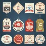 Il negozio del sarto badges le icone delle etichette messe Fotografie Stock Libere da Diritti