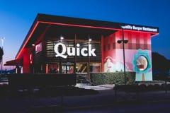 Il negozio della catena di ristorante si è specializzato in hamburger Fotografia Stock