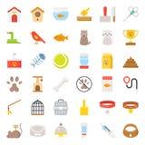 Il negozio di animali si sono riferiti ed il vettore piano dell'icona di simbolo illustrazione vettoriale