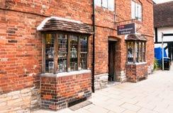 Il negozio di articoli da regalo di Shakespeare a Stratford-Sopra-Avon Fotografie Stock