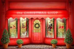Il negozio di Cristmas Immagine Stock
