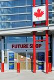 Il negozio futuro annuncia il closing Immagini Stock Libere da Diritti
