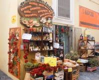 Il negozio italiano della spezia è non fantasia ma reale immagini stock libere da diritti