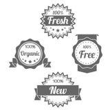 Il negozio piano moderno badges i bolli delle etichette Immagini Stock