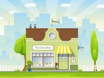 Il negozio verde Fotografia Stock