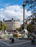 Il Nelson e le fontane immagini stock libere da diritti