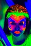 Il neon compone Immagine Stock