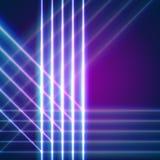 Il neon luminoso allinea il fondo Fotografia Stock